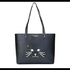 Karl Lagerfeld Maybelle Cat Face Tote. New!